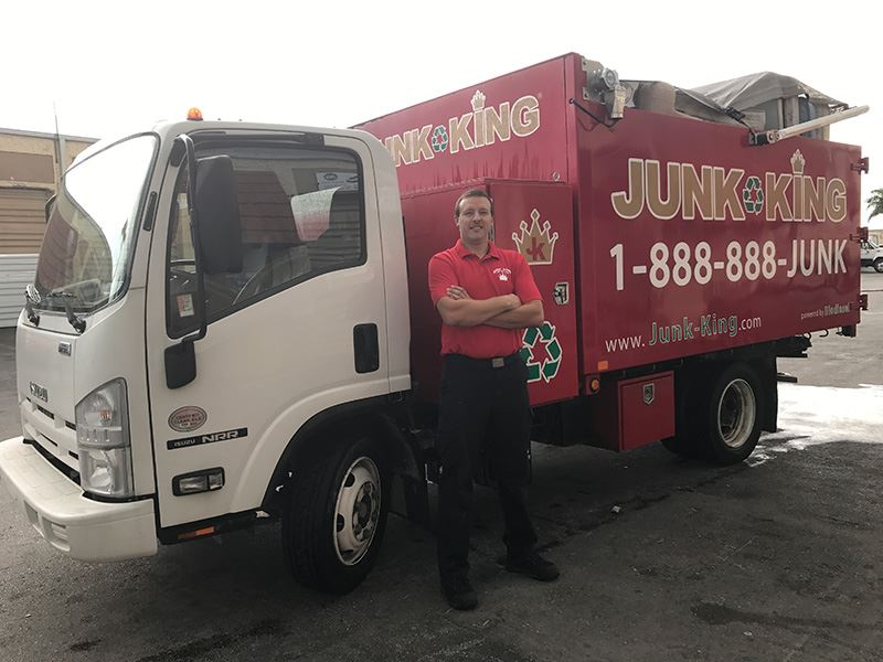 Junk King Franchise Owner,  Mike and Carla Seeley.