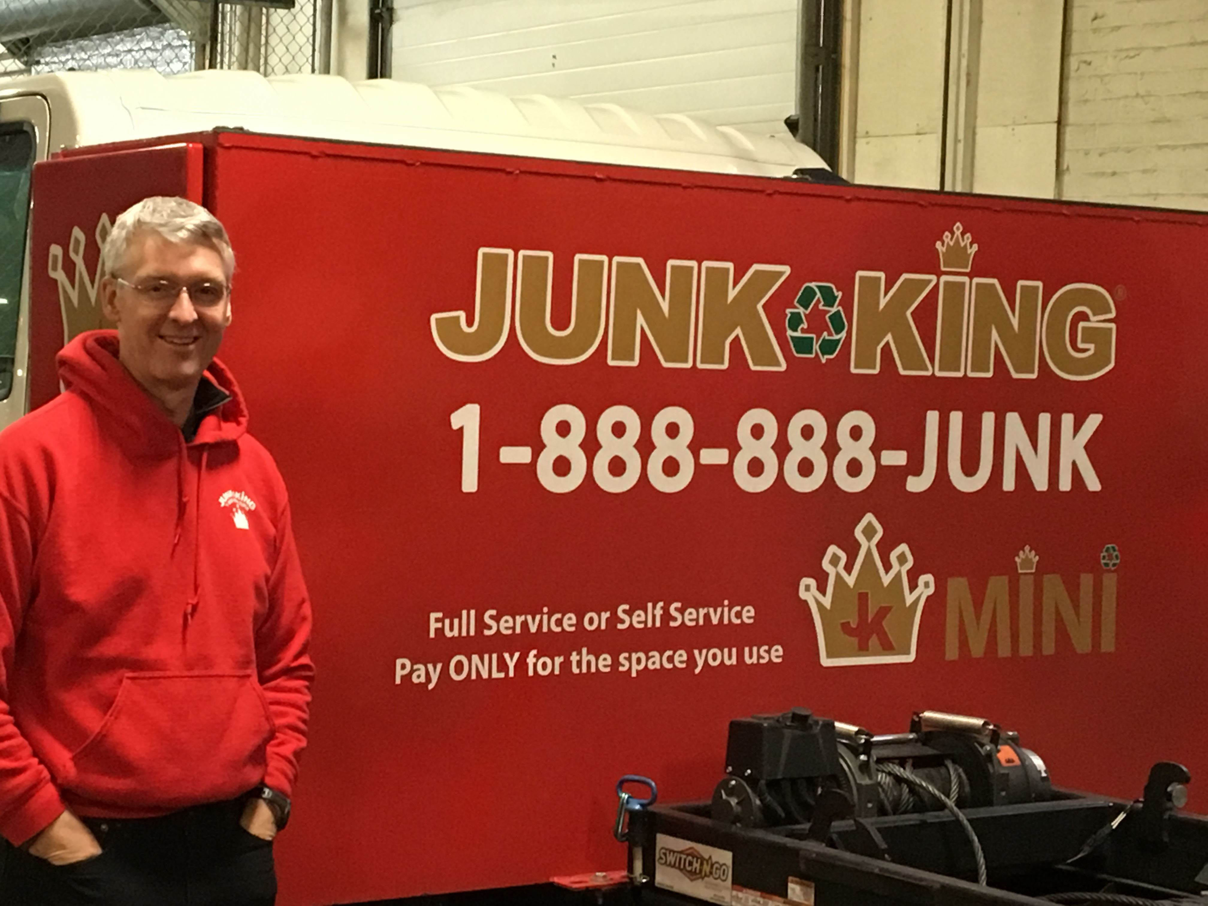 Junk King Franchise Owner,  Charles Hagedorn.