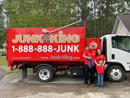 Junk King Franchise Owner, Sterlyn Joseph.