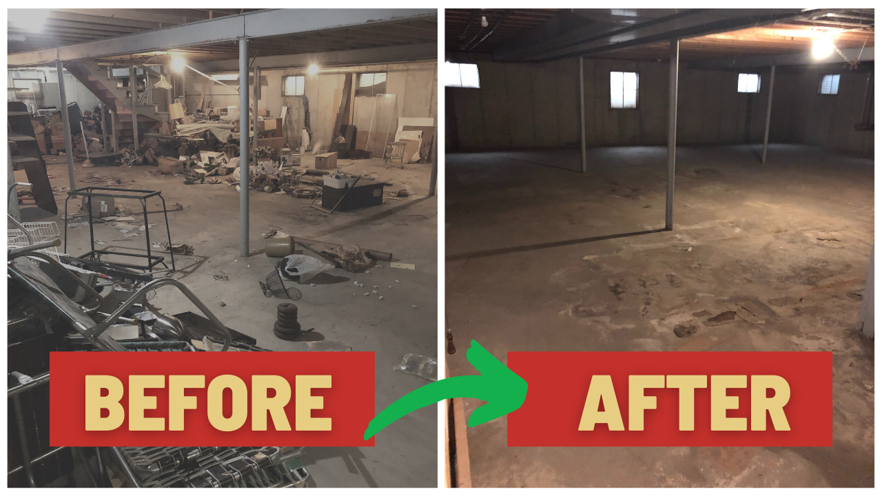 Chicago West Suburbs Junk Removal Before After