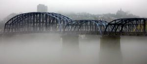 Fog on the Ohio River.