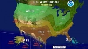 Map of NOAA long-term forecast for the U.S. for fall and winter 2012