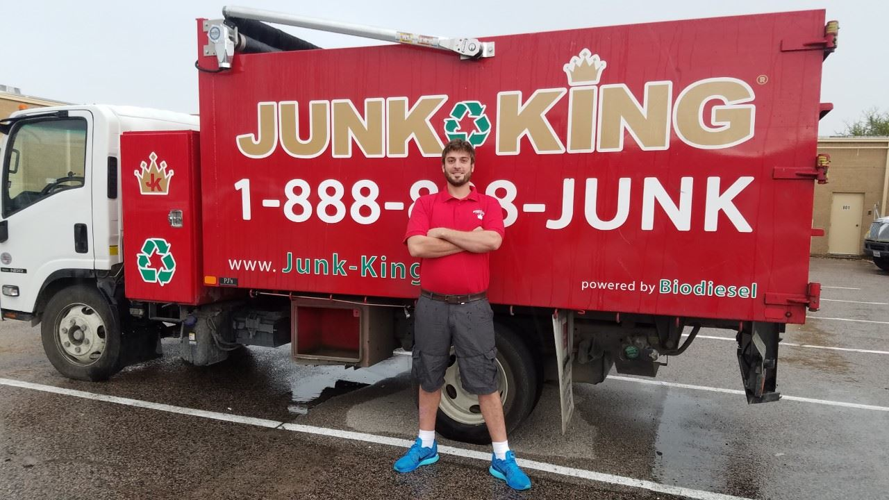 Junk King Franchise Owner, Dallas Ferguson.