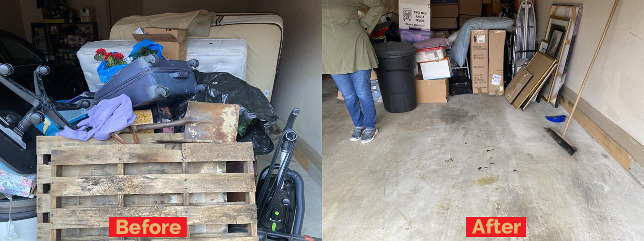 irving before and after junk removal service