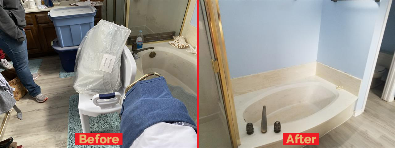 colleyville junk removal before and after