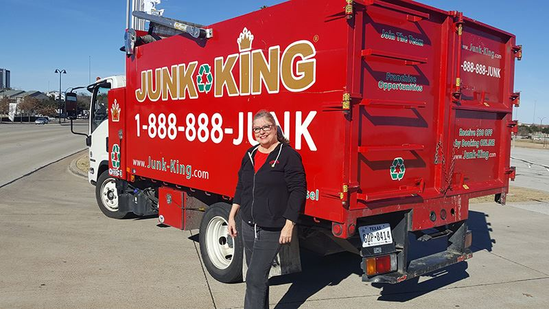 Junk King Franchise Owner, Renee Ferguson.