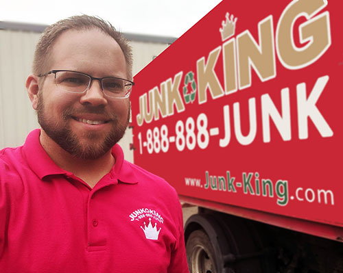 Junk King Franchise Owner,  Kent Garibaldi, Dave Rzepecki, and Joi McQueen.