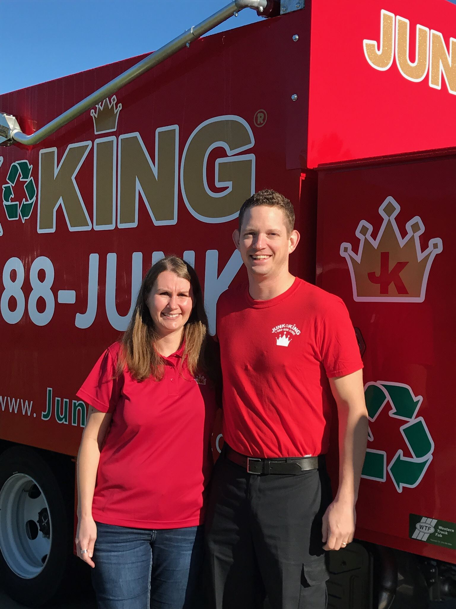 Junk King Franchise Owner,  Jim & Jennifer.