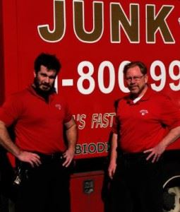 Junk King Franchise Owners,  Dan Graham and Alex Powers.