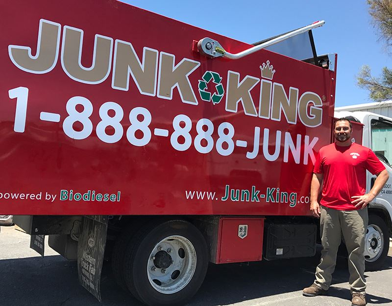 Junk King Franchise Owner, Wes Burgess.