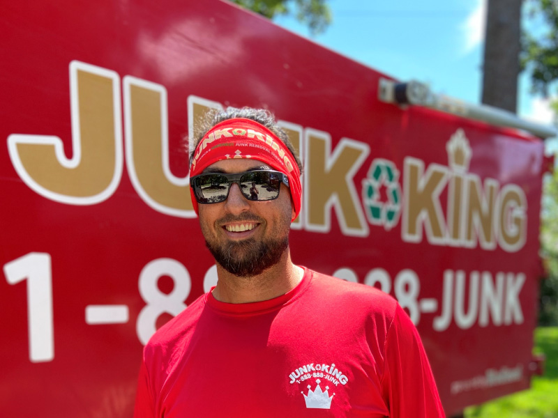 Junk King Franchise Owner,  Marcus Ostrowski.