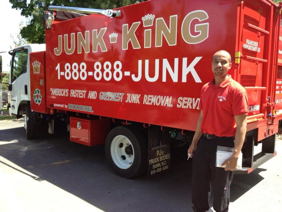 Junk King Franchise Owner,  Jean Leon.