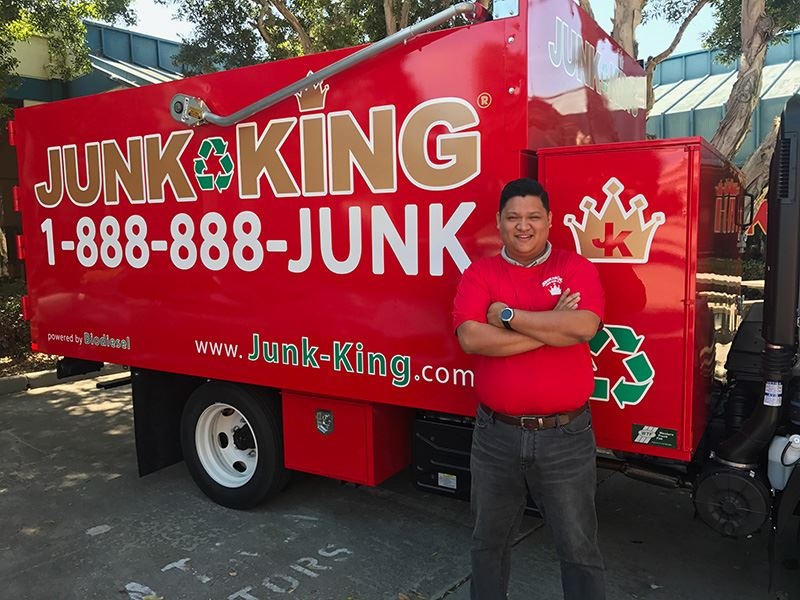 Junk King Franchise Owner,  Ed Young.