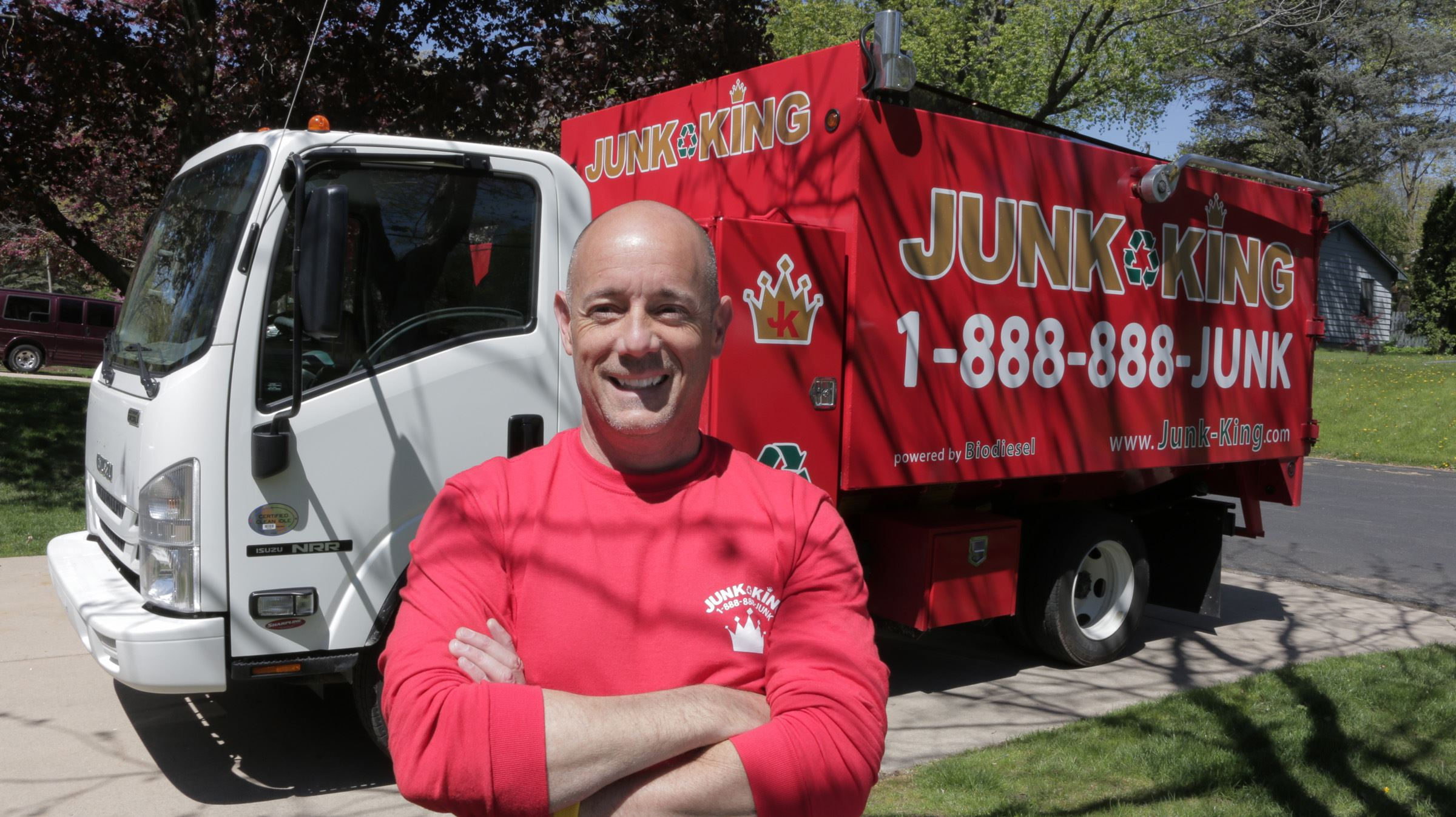Madison Area Junk King Franchise Owner, Eric and Kira Cortese.