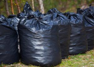 Junk in Black garbage bags