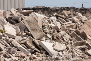 Piles of Broken Concrete
