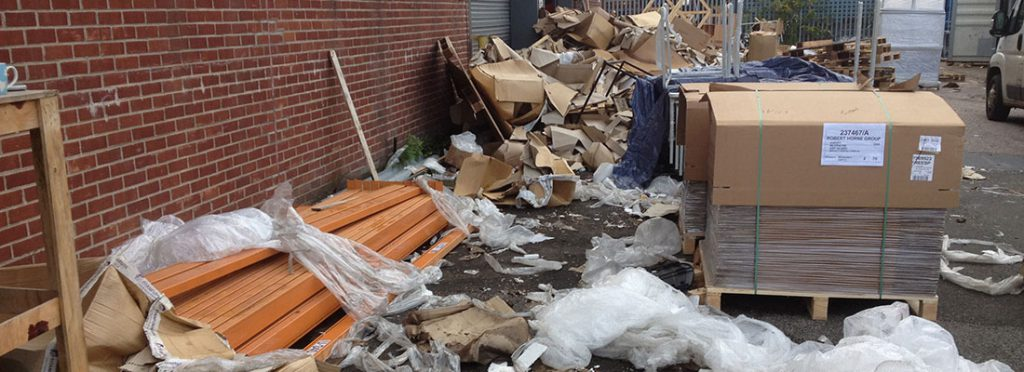 Pile of commercial waste