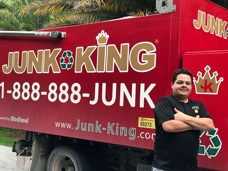 Junk King Franchise Owner,  Jordi Martinez.