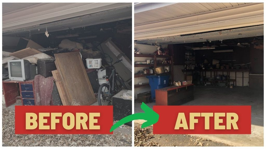 Garage Cleanout Before and After
