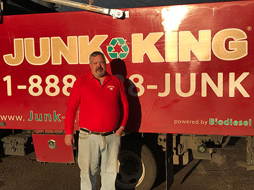 Junk King Franchise Owner,  Robert and Caryn Hatcher.