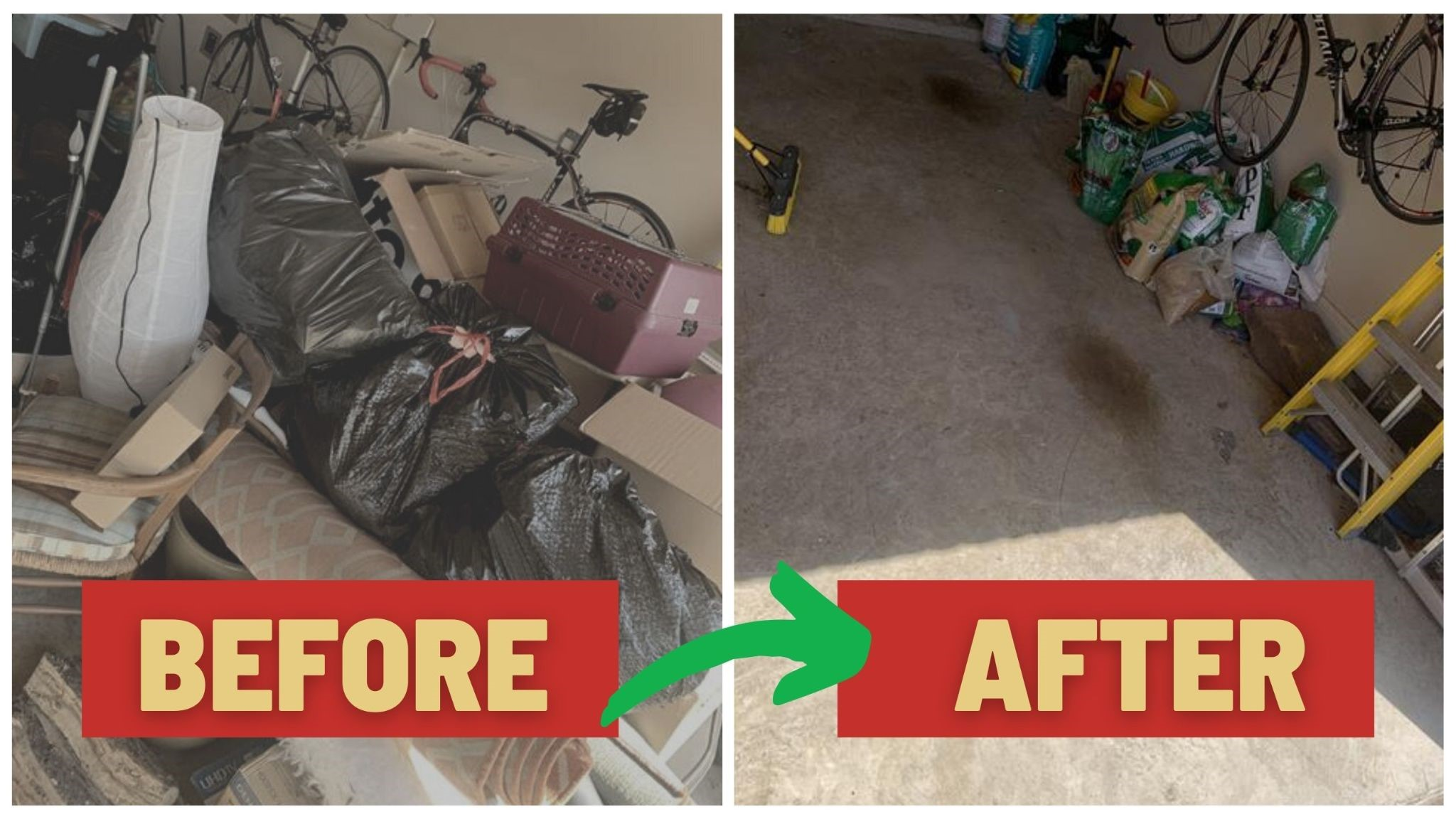 Junk Removal North Texas Before After