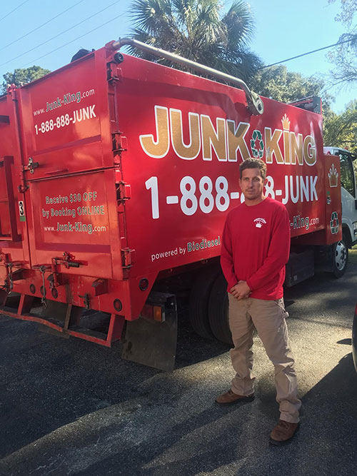 Junk King Franchise Owner, Brandon Martin.