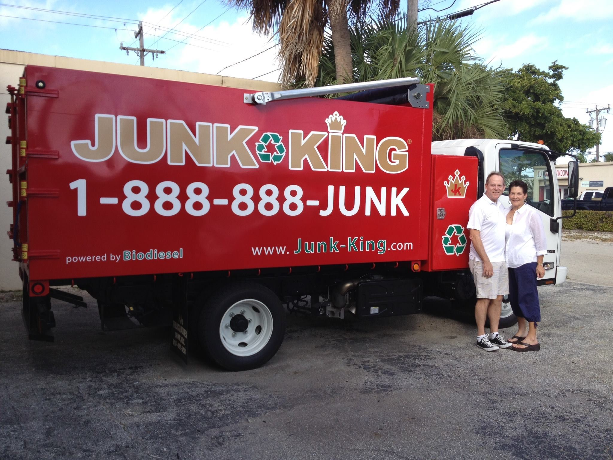 Junk King Franchise Owners,  Dave and Toni Archer.