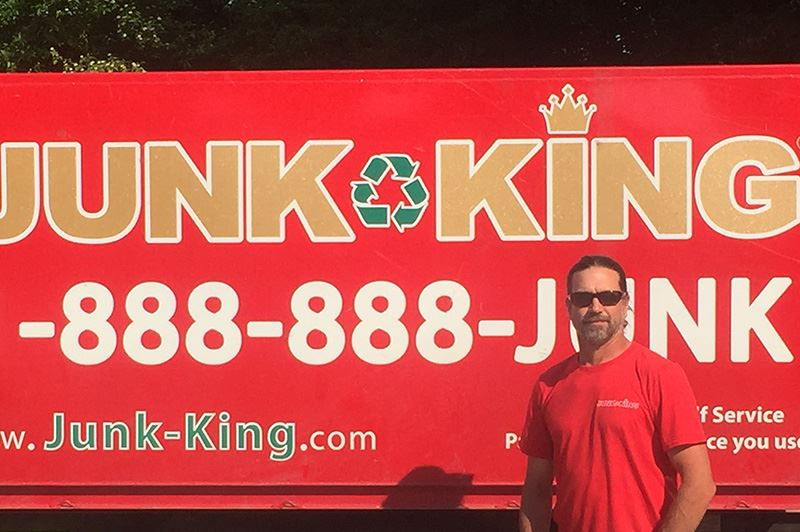 Junk King Franchise Owner,  Edward Stripay.