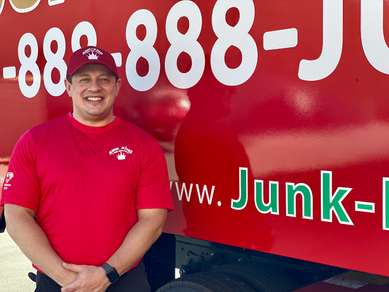Junk King Franchise Owner, Ryan Parker.