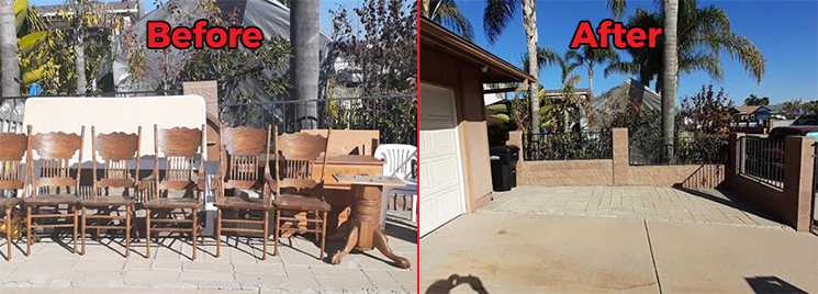 furniture pickup in san diego before and after