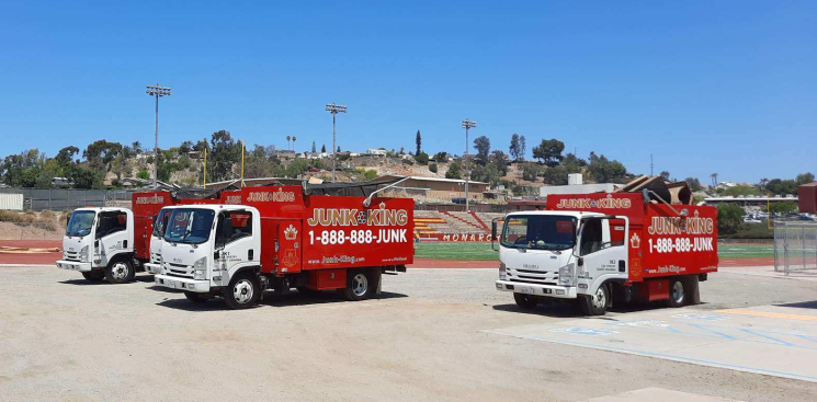 junk king san diego helping with furniture and junk removal at san diego school