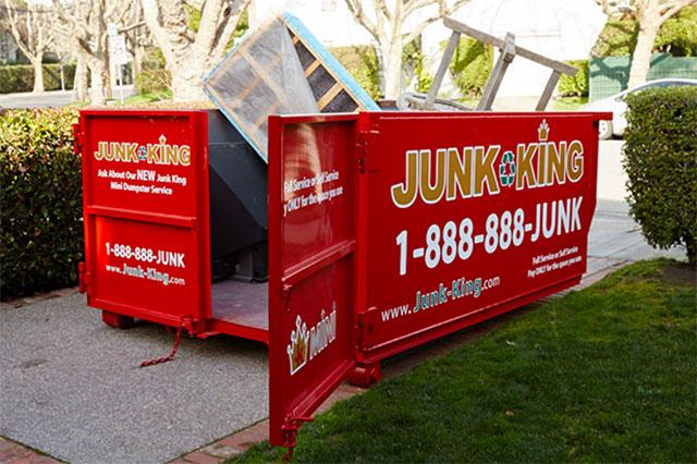 Junk King Dumpster