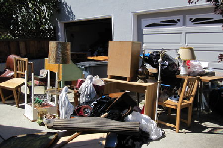 Pile of old Furniture and home debris