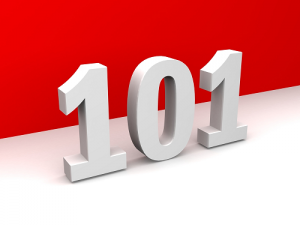 101 numbers with red and white background