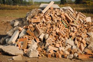 Piles of Bricks and rocks