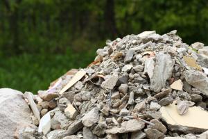 Pile of construction debris