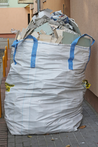 Bag filled with Construction Debris