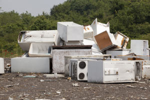 Pile of old appliances