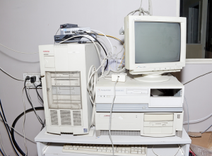 old computer pile