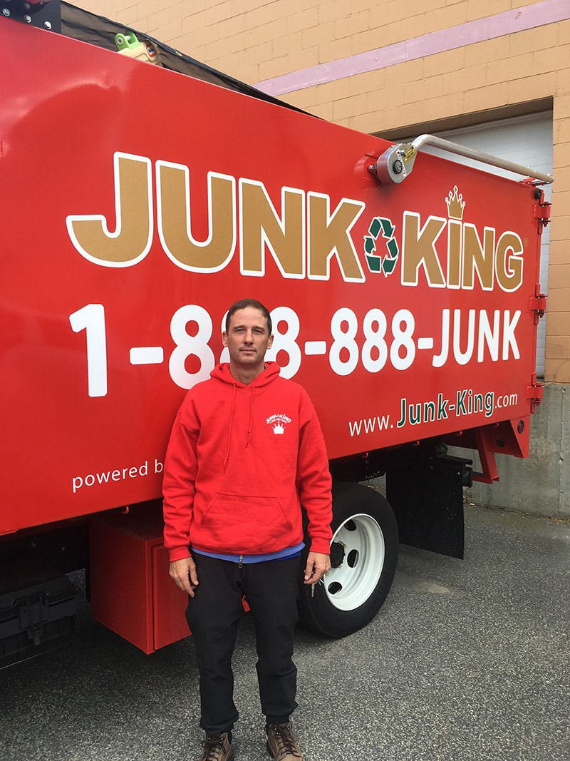 Junk King Franchise Owner,  Jonathan Hughes.