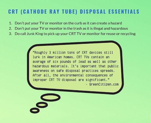 CRT TV Disposal
